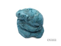 Stylish 45x34mm Blue Horse-shaped Turquoise Craftwork