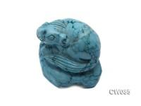 Stylish 45x34mm Blue Horse-shaped Turquoise Craftwork