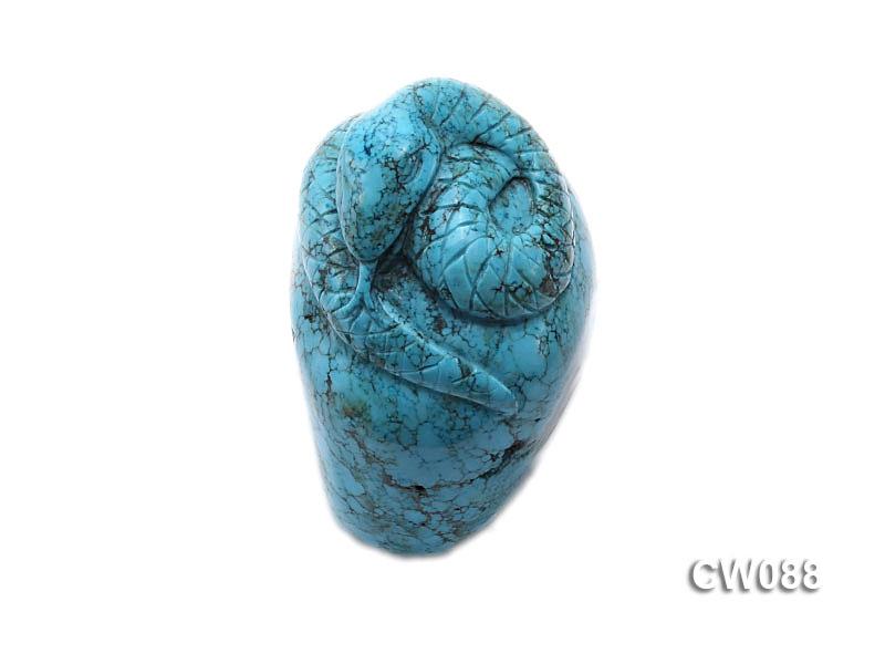 Stylish 47x30mm Blue Snake-shaped Turquoise Craftwork