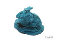 Stylish 65x33mm Blue Dinosaur-shaped Turquoise Craftwork