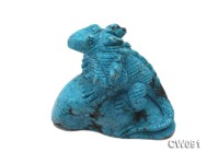 Stylish 68x35mm Blue Dinosaur-shaped Turquoise Craftwork