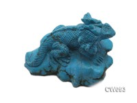 Stylish 90x67mm Blue Dinosaur -shaped Turquoise Craftwork