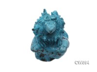70x45mm Blue Dinosaur-shaped Turquoise Craftwork
