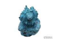 70x45mm Blue Dinosaur-shaped Turquoise Craftwork