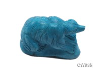 Stylish 60x32mm Blue Bear-shaped Turquoise Craftwork