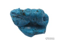 Stylish 75x60mm Blue Bear-shaped Turquoise Craftwork