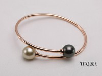 11-13mm Tahitian Pearl Bracelet with 18K Gold