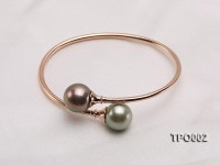 11-13mm Peacock Tahitian Pearl Bracelet with 18K Gold