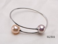 18k Gold Bracelet with Two Round Edison Pearls