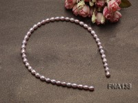 7x9mm Lavender Oval Cultured Freshwater Pearl Hairband
