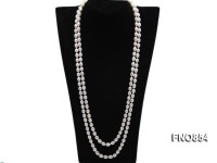 7.5×9.5mm Oval Rice-shaped Freshwater Cultured Pearl Necklace