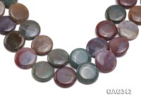 Wholesale 30mm Multi-color Round Agate Pieces String