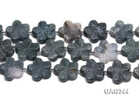 Wholesale 28mm Flower-shaped Agate Pieces String