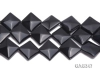 Wholesale 30mm Black Square Faceted Agate Pieces String