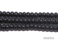 Wholesale 8x12mm Black Wheel-shaped Faceted Agate Beads String
