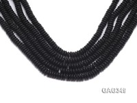Wholesale 8x3mm Black Wheel-shaped Agate Pieces String