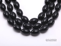 Wholesale 20x30mm Black Oval Agate Beads String