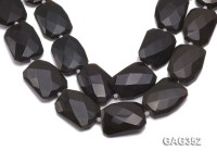 Wholesale 30x40mm Black Faceted Agate Pieces String
