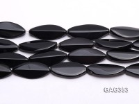 Wholesale 17x35mm Black Oval Faceted Agate Pieces String