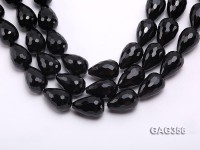 Wholesale 20x30mm Drip-shaped Faceted Agate Beads String