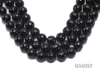 Wholesale 18mm Black Round Faceted Agate Beads String