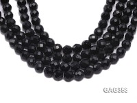 Wholesale 12mm Black Round Faceted Agate Beads String
