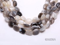Wholesale 16x20mm Oval Agate Pieces String
