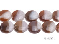 Wholesale 35mm Round Agate Pieces String