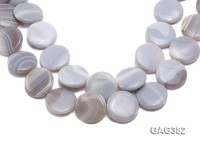 Wholesale 30mm Ivory Round Agate Pieces String