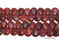 Wholesale 20x30mm Red Drop-shaped Agate Pieces String