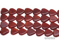 Wholesale 22mm Red Heart-shaped Agate Pieces String