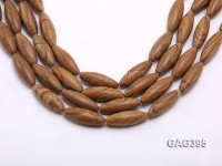 Wholesale 10x30mm Oval Brown Agate String