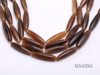 Wholesale 10x40mm Brown Bar-shaped Agate String