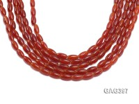 Wholesale 6x12mm Red Oval Agate Beads String