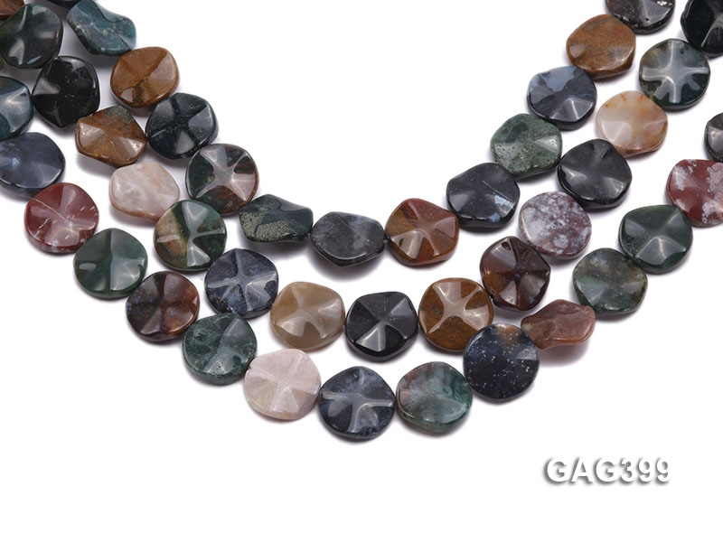Wholesale 20mm Multi-color Round Agate Pieces String