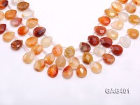 wholesale 12x16mm  drop shape agate strings