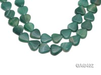 wholesale 22mm Heart-shaped agate pieces strings