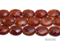 Wholesale 25x30mm Oval Faceted Agate Pieces String