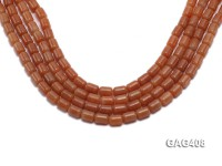 Wholesale 8x11mm Cylinder-shaped Agate Beads String