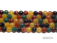 Wholesale 12mm Round Faceted Agate Beads String