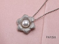 8mm White Freshwater Pearl Pendant, Ring and Earrings Set