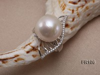 15mm White Round Edison Pearl Ring