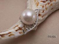 15mm White Round Edison Pearl Ring