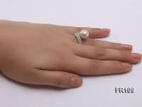 11.5mm White Round Edison Pearl Ring