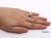 11mm White Round Edison Pearl Ring