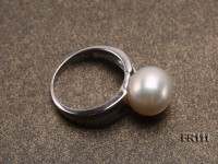 11mm White Round Edison Pearl Ring