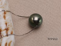 9-10mm Black Tahitian Pearl Pendant with 18k Gold Chain