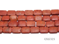 Wholesale 18x22mm Square Red Sponge Coral Beads Loose String