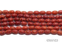 Wholesale 9x12mm Rice-shaped  Red Sponge Coral Beads Loose String