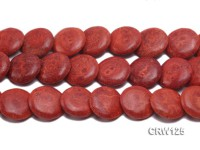 Wholesale 30mm Button-shaped Red Sponge Coral Beads Loose String